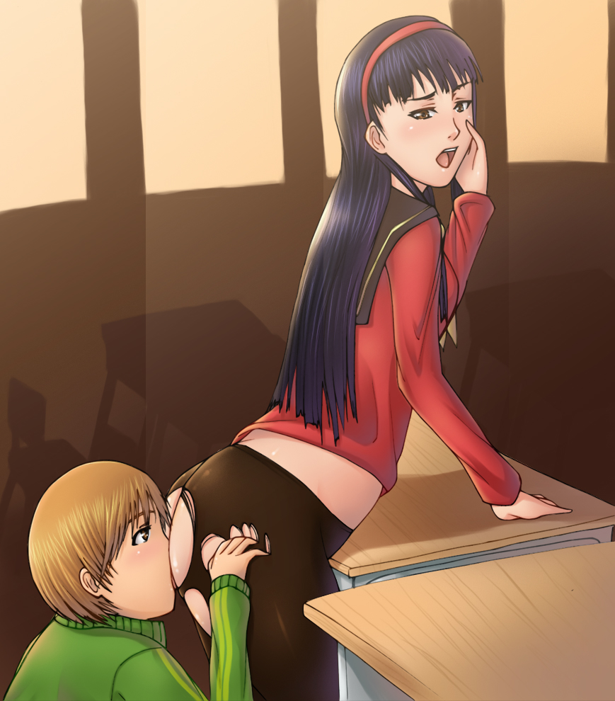 persona chie yukiko 4 x The outside is full of futanarisks!! ~brutes approaching boys
