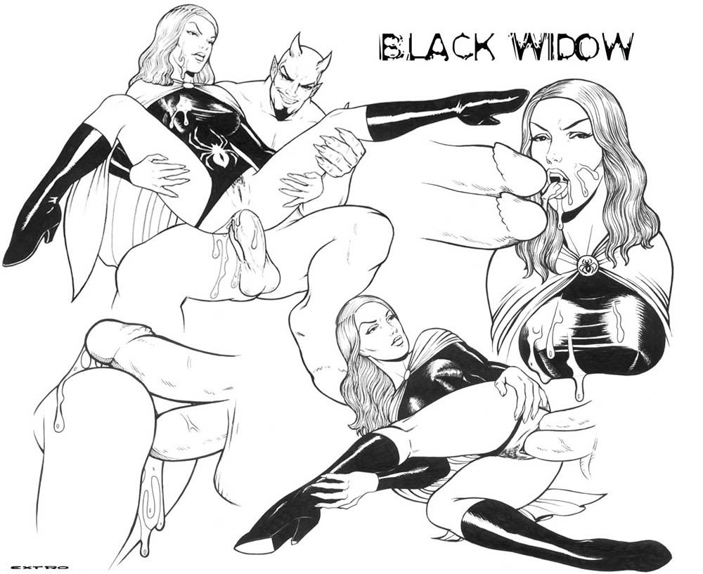 widow from the avengers black naked Bloodstained ritual of the night dominique