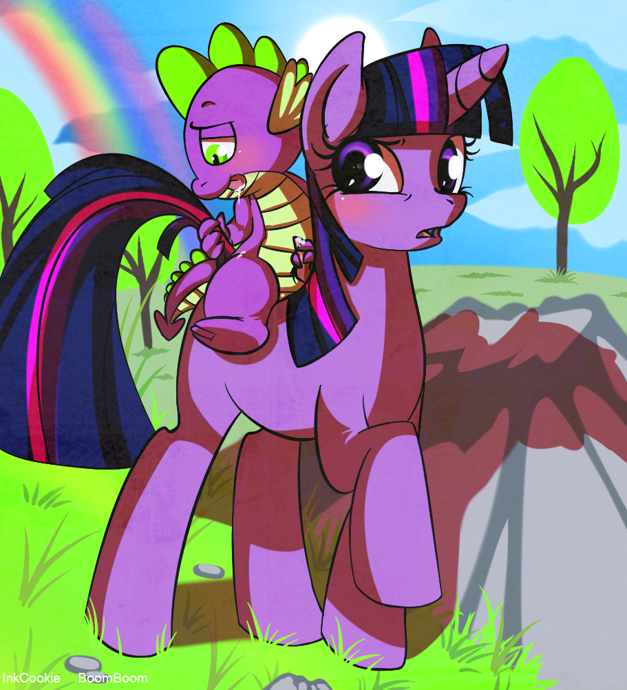 spike magic rarity my is and pony little friendship .hack//sign subaru