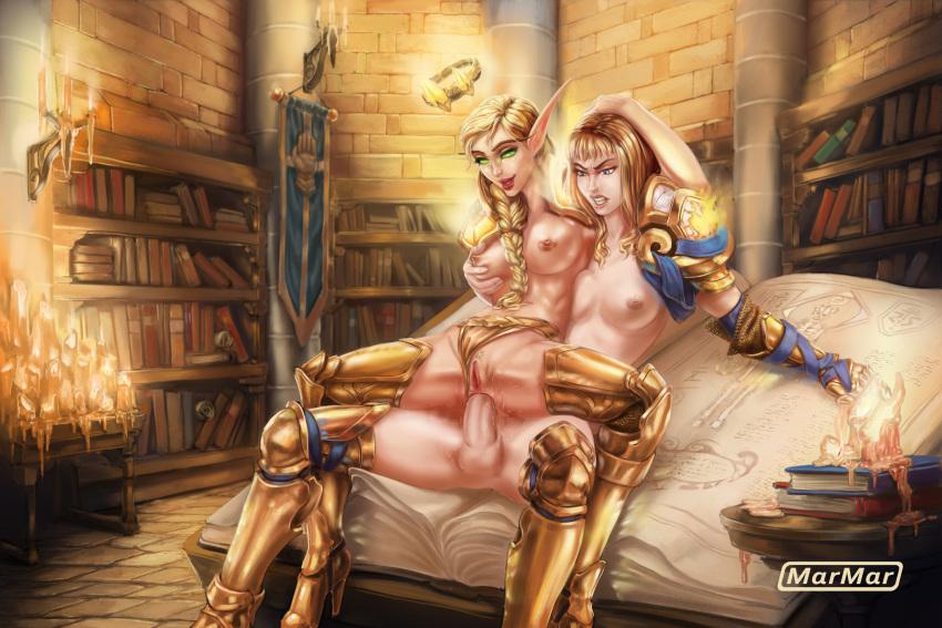 paladin elf armor judgement blood Kiss x demon lord x darjeeling